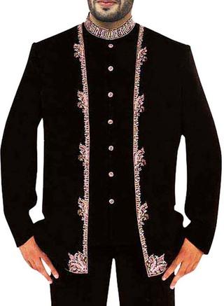 Groom Black 3 Pc Wedding Suit