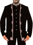 Mens Black Wedding 3 Pc Suit Front Open