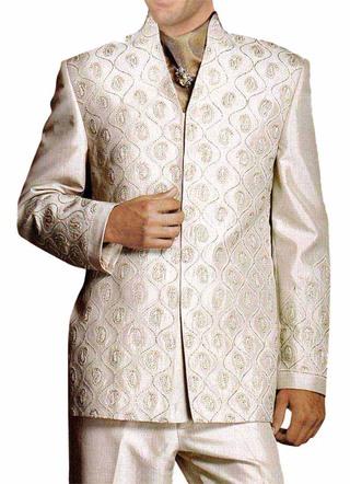 Unique Look Almond 4 Pc Mens Suit