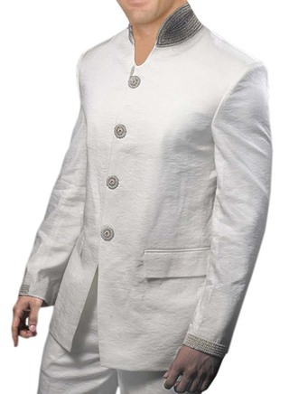 Different Look Wedding White 2 Pc Jodhpuri Suit