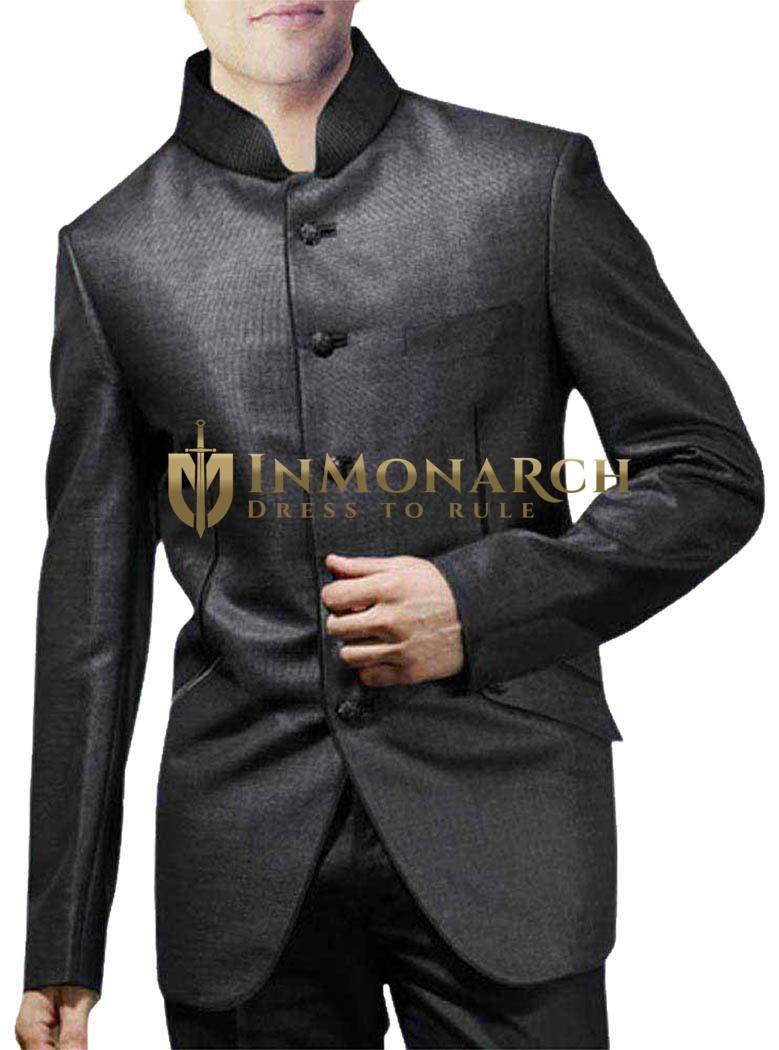 Prestigious Dark-Gray 2 Pc Wedding Suit