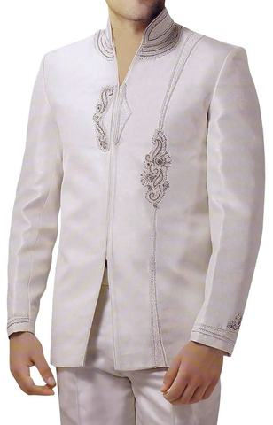 Designer Cream 2 Pc Jodhpuri Suit