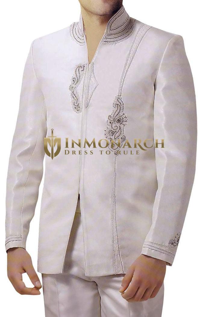 Designer Cream 2 Pc Jodhpuri Suit