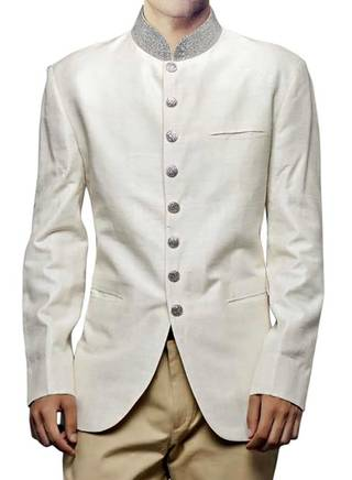 Linen Cream 2 Pc Jodhpuri Coat