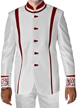 Luxurious White 2 Pc Jodhpuri Suit