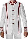Mens White Polyester 2 Pc Jodhpuri Suit Wedding