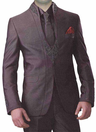 Smart Look Wine 6 Pc Jodhpuri Suit