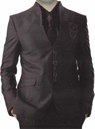 Optimum Wine 5 Pc Jodhpuri Suit