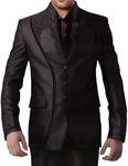 Magnificent Brown Groom 6 pc Designer Suit