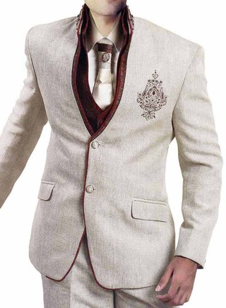 Glorious Cream 6 Pc Jodhpuri Suit