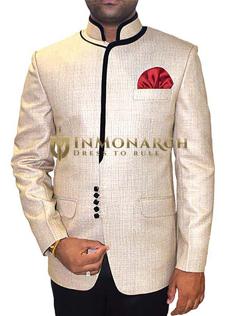 Decent Look Natural 3 Pc Jodhpuri Suit