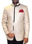 Decent Look Beige 3 Pc Jodhpuri Suit