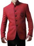 Fashionable Red 2 Pc Jodhpuri Suit
