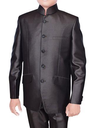 Royal Black Nehru 2 Pc Coat pant