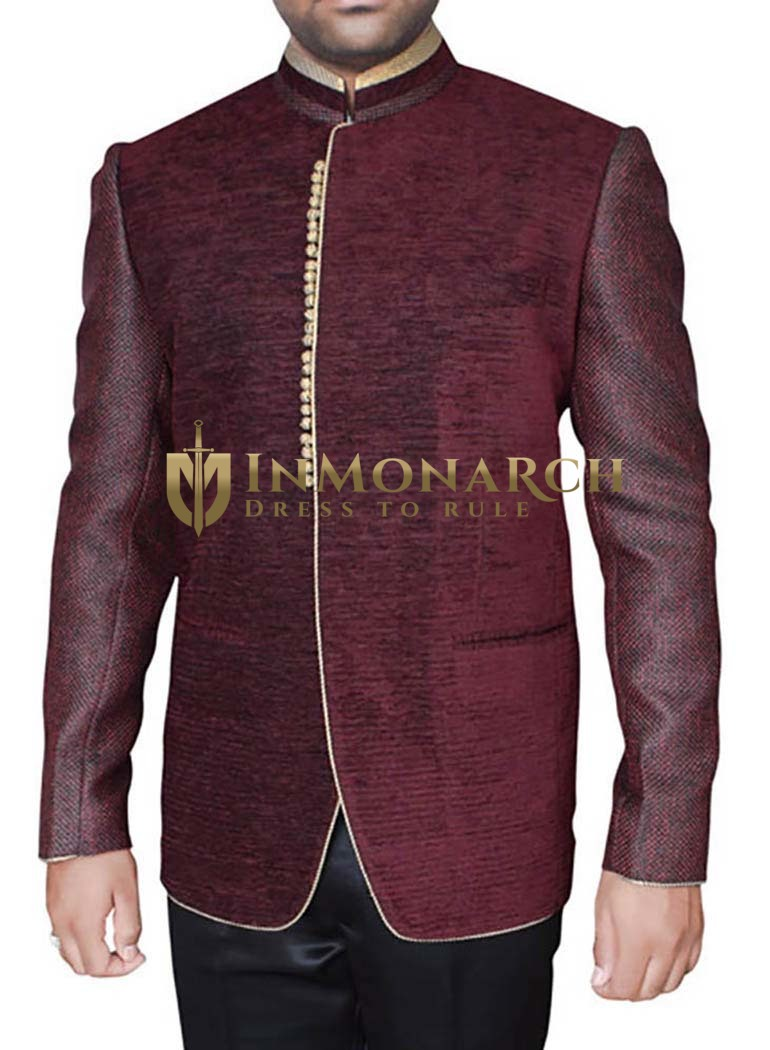 Designer Wine 2 Pc Jodhpuri Suits