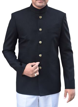 Traditional Black 2 Pc Jodhpuri Suit