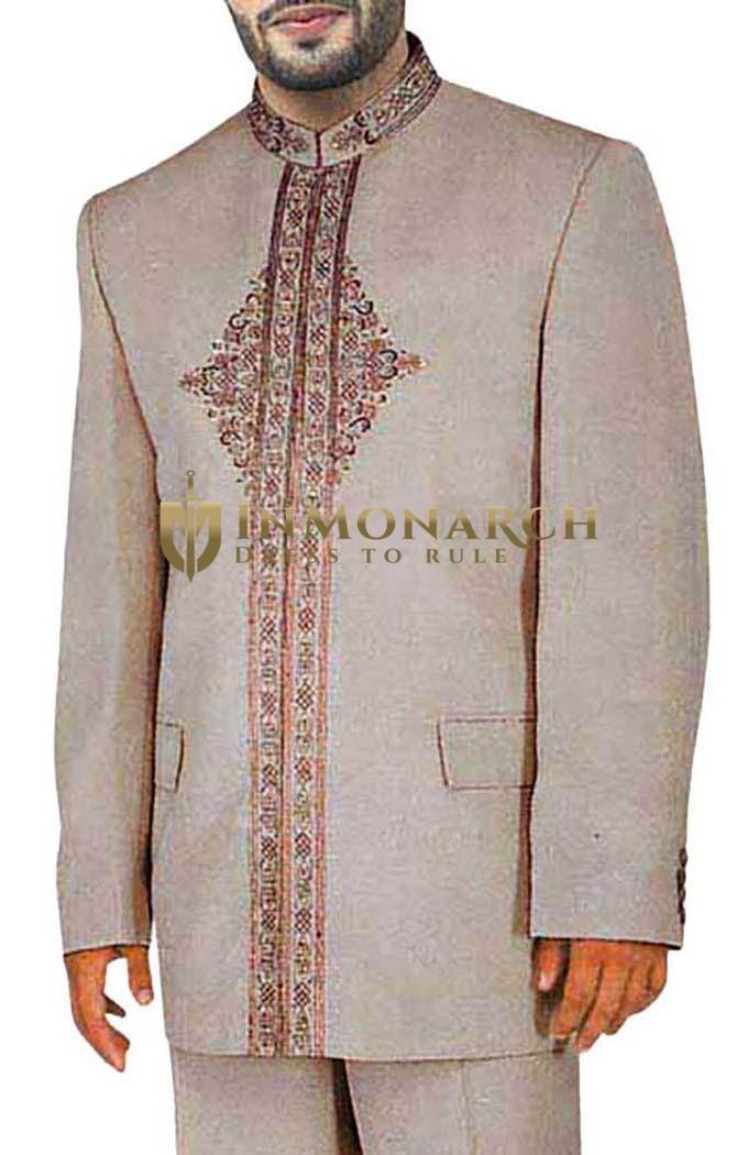 Almond Glamorous Look Traditional 2 Pc Jodhpuri Suit