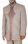 Mens Almond 2 Pc Jodhpuri Suit Traditional