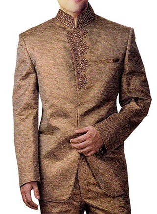 Angarakha 2 pc Copper Jodhpuri Suit