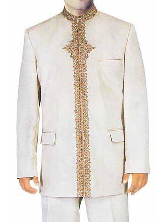 Mens Cream 2 Pc Jodhpuri Suit Traditional Look