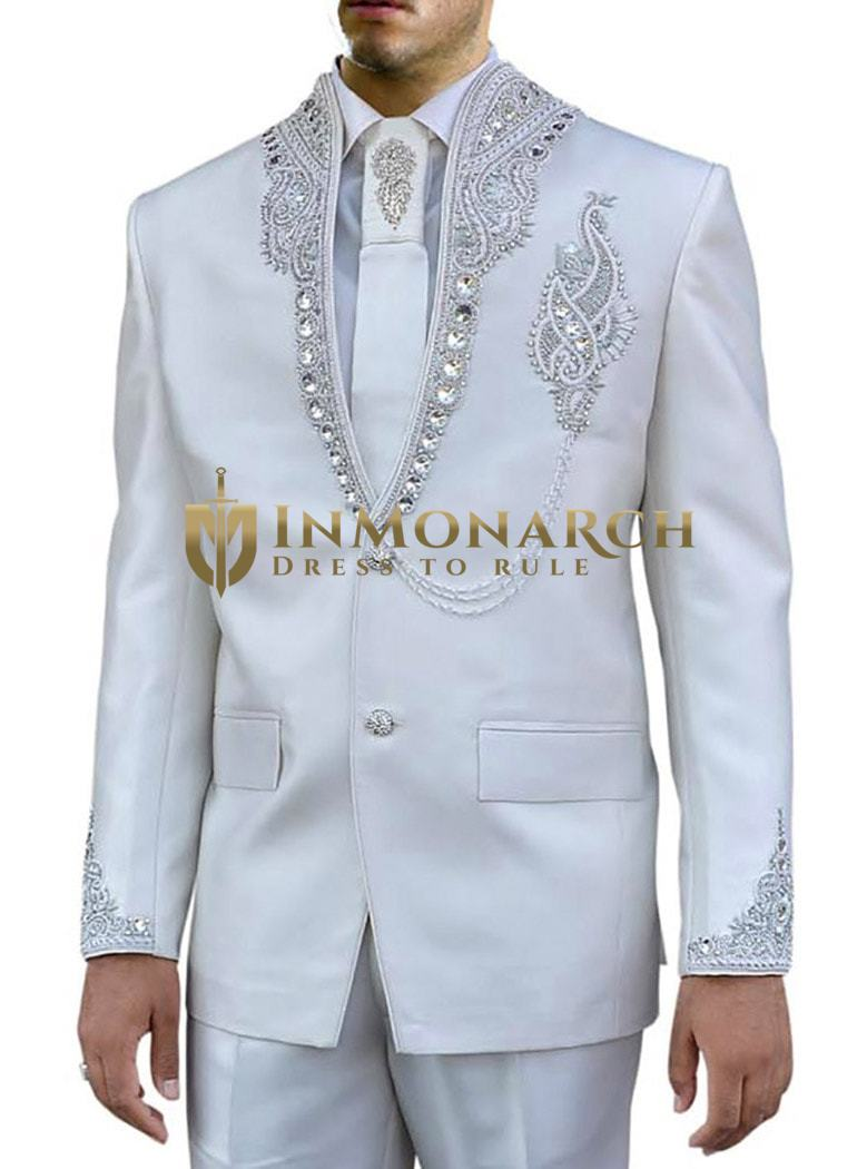 Engagement Designer Cream 4 Pc Jodhpuri Suit