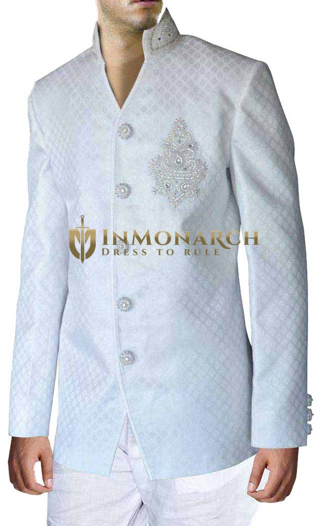 Traditional White 2 Pc Jodhpuri Suit