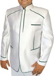 Mens White 2 Pc Jodhpuri Suit Designer
