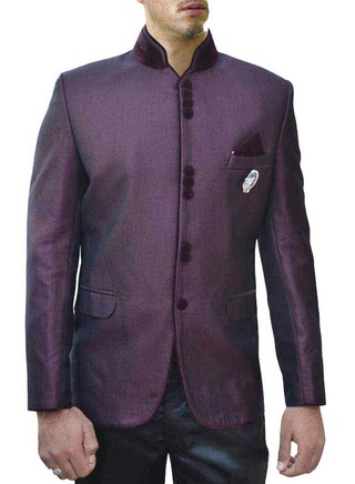 Classic Groom Wine 4 Pc Jodhpuri Suit