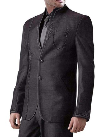 Significant Purple gray 5 pc Jodhpuri Suit