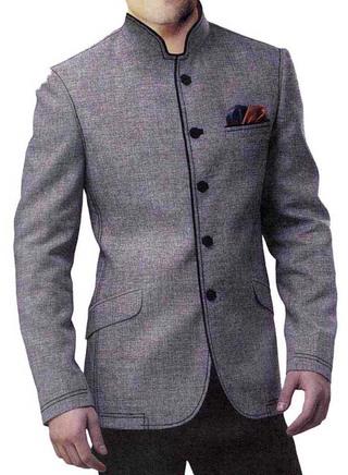 Unique Look Gray 3 Pc Jodhpuri Suit