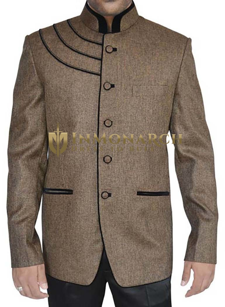 Marvelous Bronze Designer 2 Pc Jodhpuri Suit