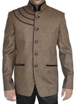 Mens Bronze Designer 2 Pc Jodhpuri Suit