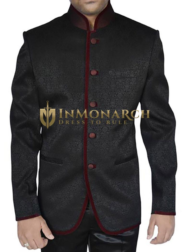 Contemporary Black 2 Pc Jodhpuri Suit