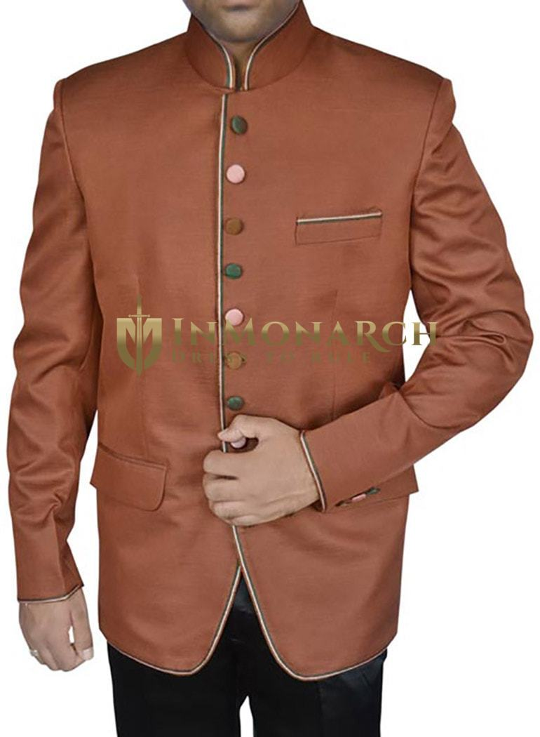 Winsome Copper 2 Pc Jodhpuri Suit