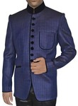 Wonderful Navy blue 2 Pc Jodhpuri Suit