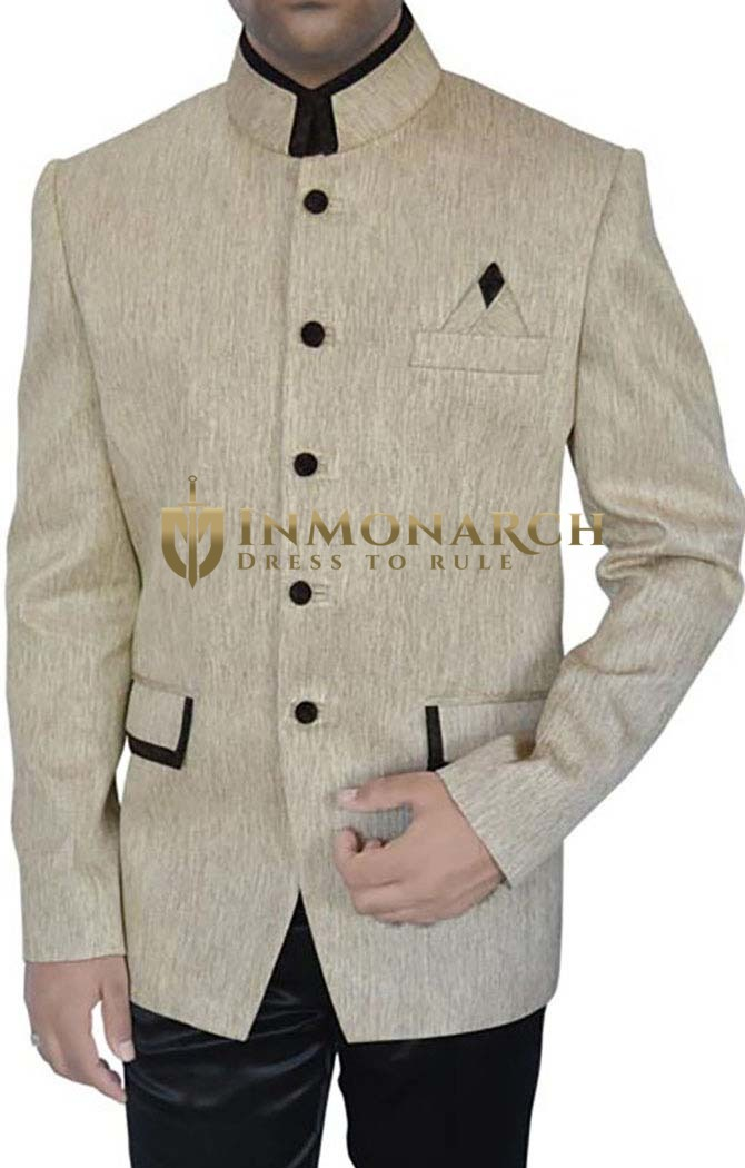Unique Look Ivory 3 Pc Jodhpuri Suit