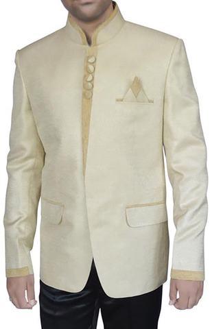 Fabulous Ivory 3 Pc Jodhpuri Suit