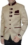 Mens Beige 3 Pc Jodhpuri Suit Designer