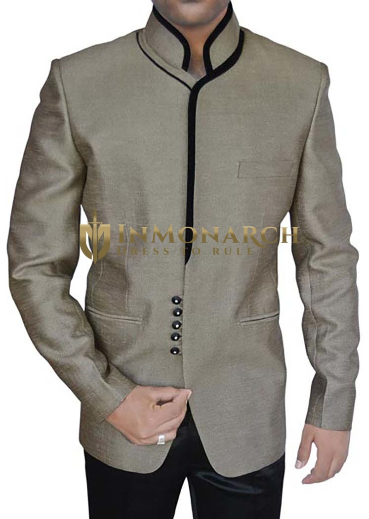 Perfect Groom Gray 2 Pc Jodhpuri Suit