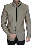Mens Olive Drab 2 Pc Jodhpuri Suit Black Velvet