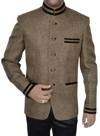 Mens Olive Drab 2 Pc Jodhpuri Suit Partywear