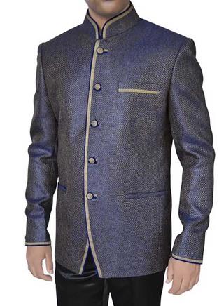 Spectacular Purple Jute 2 Pc Jodhpuri Suit
