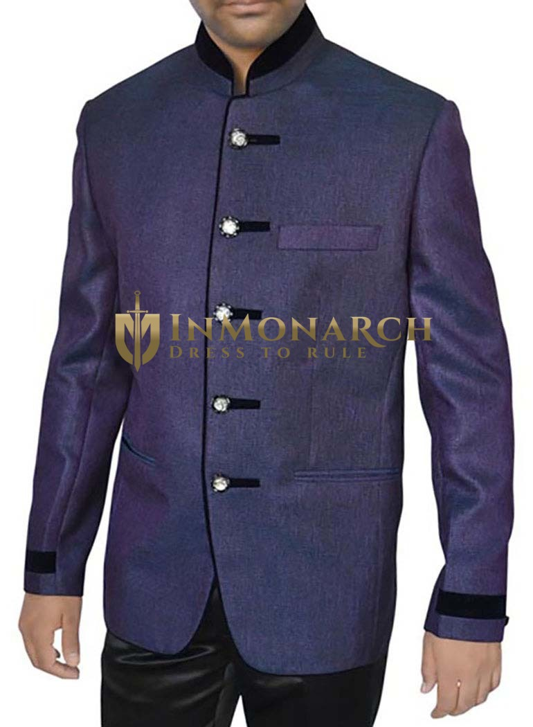 Mens Regency 2 Pc Jodhpuri Suit 5 Button