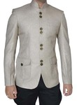 Mens Natural Color 2 Pc Jodhpuri Suit With Breeches