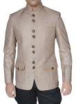 Mens Beige 2 Pc Jodhpuri Suit With Breeches Designer
