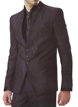 Trendy Look Dark brown 6 pc Jodhpuri Suit