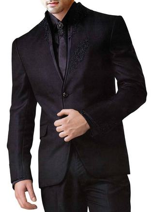 Mens Purple Wine 5 pc Designer Suit Two Button