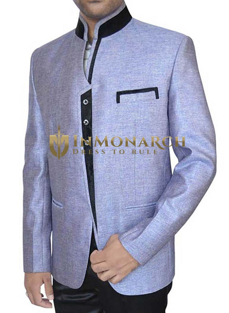 Perfect Look Lavender 2 Pc Jodhpuri Suit