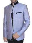 Mens Sky Blue 2 Pc Jodhpuri Suit Wedding