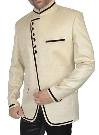 Mens Ivory Jute 2 Pc Jodhpuri Suit